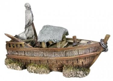 Akvárium dísz Csónak