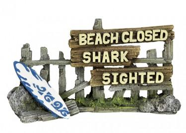 Akvárium dísz Fakerítés (Beach Closed)