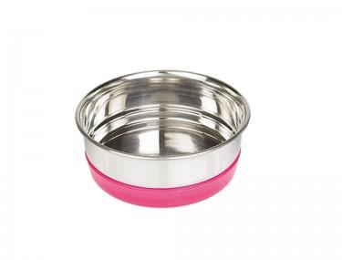 Fémtál rózsaszín műanyag gyűrűs