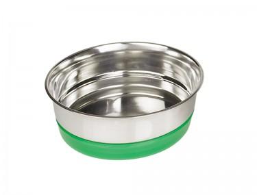 Fémtál zöld műanyag gyűrűs