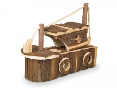 Fa hörcsög odú hajó alakú, létrával