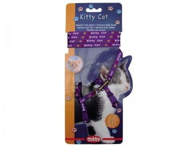 KITTY CAT lila hám+póráz