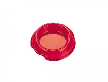 Műanyag piros etető- és itatótál