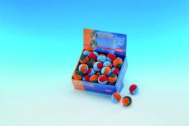 Macskajáték színes csörgő labda