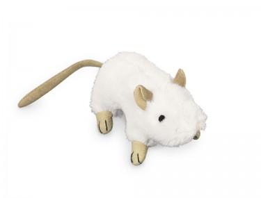 Plüss egér fehér 10cm