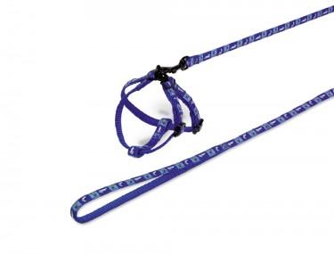 Rágcsáló szett RÉPA kék hám+póráz