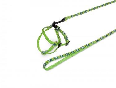 Rágcsáló szett RÉPA zöld hám+póráz