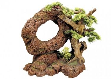 akváriumi dekor bonsai 2 (növénnyel)