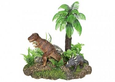 akváriumi dekor dinoszauruszok növénnyel 2