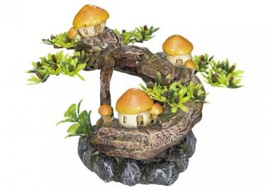 akváriumi dekor fa gombával
