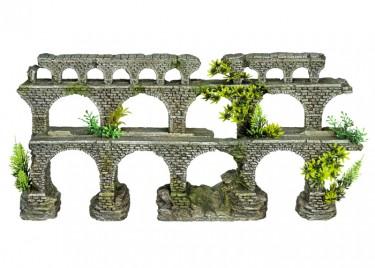 akváriumi dekor tégla híd