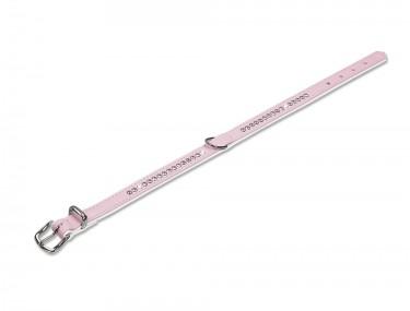 nyakörv Crystal pink fehér 32cm